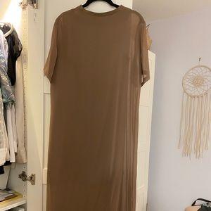 Zara Brown T-shirt dress